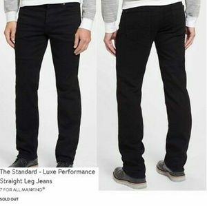 7 FOR ALL MANKIND men's black jeans